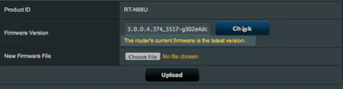 confirm firmware