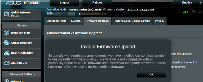 firmware upgrade