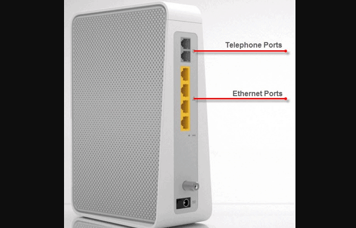 ethernet cable port