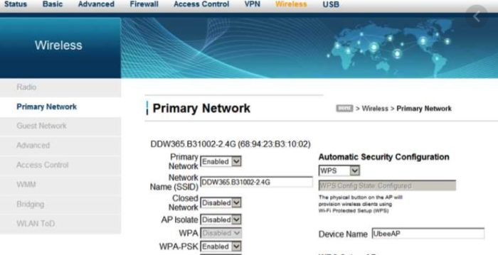 Primary Network and WPA