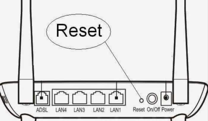 reset Huawei HG532n router