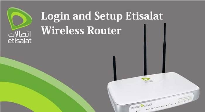 etisalat router